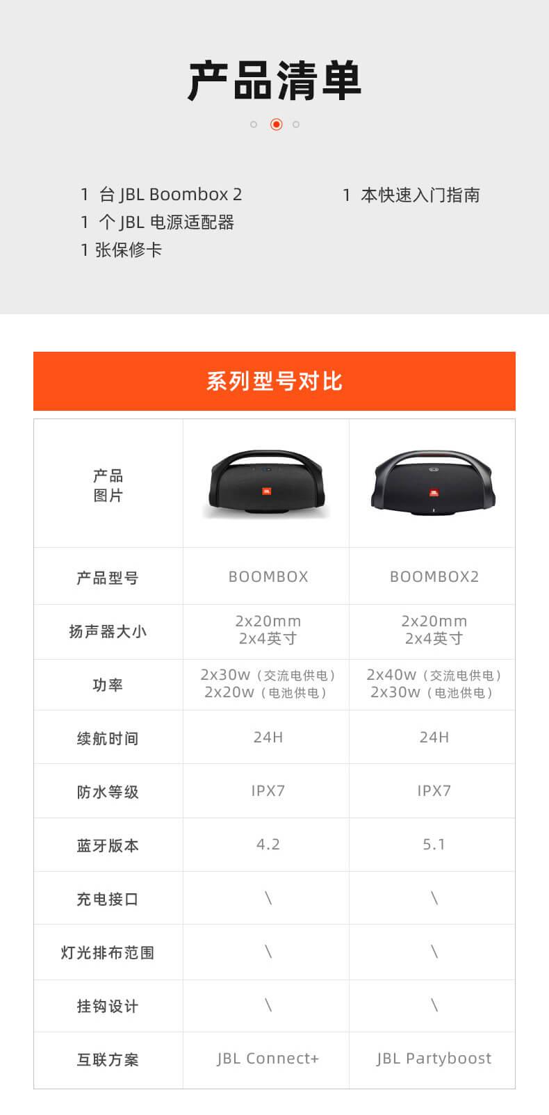 JBL BOOMBOX2音乐战神2代无线蓝牙音箱便携户外音响hifi低音增强